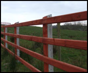 Timber Rail Fence Posts