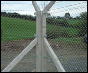 Bent Arm Fencing Post